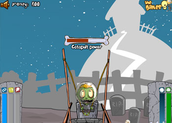 Play Zombie Head Moon online - Screenshot 1