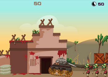 Play Zombie Tank Battle online - Screenshot 1