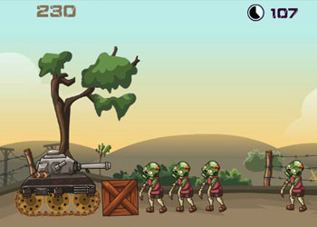 Play Zombie Tank Battle online - Screenshot 2