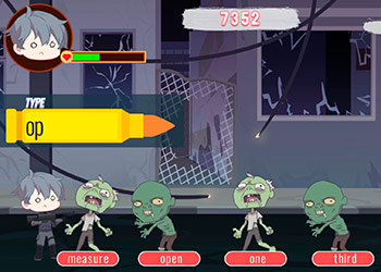 Play Zombie Typing online - Screenshot 2