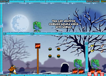 Play Zombies vs Penguins online - Screenshot 1