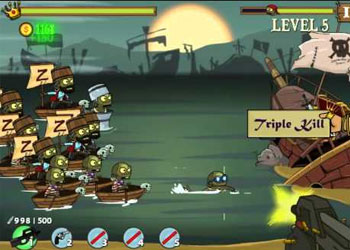 Play Zombudoy 3 Pirates online - Screenshot 1